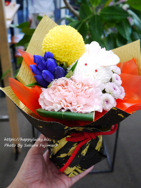 日比谷花壇 敬老の日 そのまま飾れるブーケ「お月様とうさぎ」
