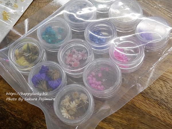 日比谷花壇 手作りキット「UVレジンのフラワーアクセサリー」ドライフラワーパーツアップ