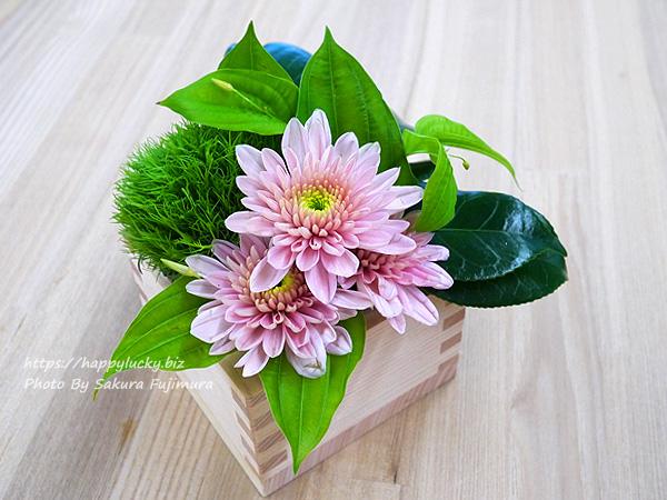 日比谷花壇 天皇陛下即位 令和改元記念 デザイナーズアレンジメント「令和・凛」 升アレンジメントその1