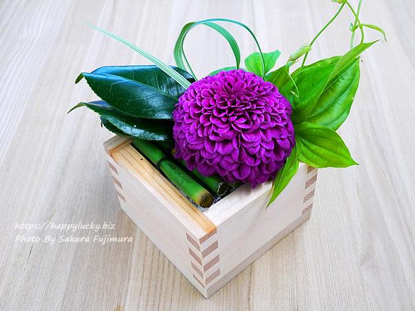 日比谷花壇 天皇陛下即位 令和改元記念 デザイナーズアレンジメント「令和・凛」 升アレンジメントその3