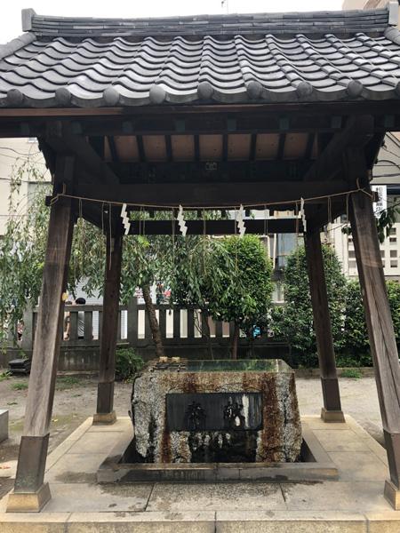 千葉県柏市 柏神社 手水舎