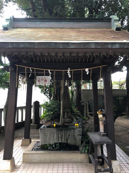 千葉県柏市 柏諏訪神社 手水舎