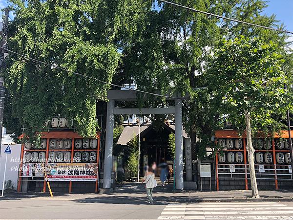 東京・築地市場周辺 波除神社 入り口