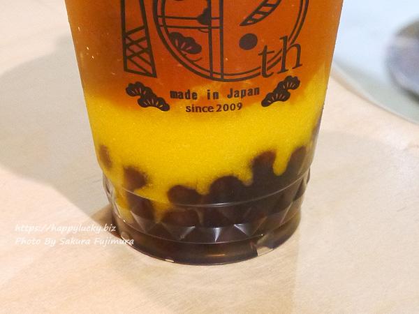 お茶専門店「PEARL LADY 茶BAR」マンゴーオレンジピューレ&アールグレイ茶 ストレート 大粒タピオカは普通かな