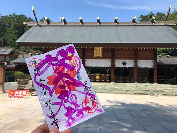 千葉県野田市 櫻木神社 紙の印符御朱印ピンク
