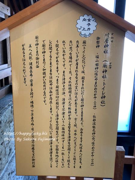 千葉県野田市 櫻木神社のトイレ 川屋神社の説明