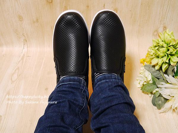 ワークマン CB400 ファイングリップシューズ 黒 靴 着画その2